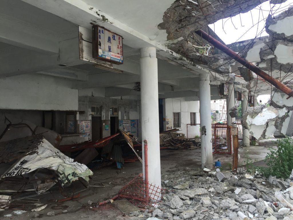 部分建物已遭到破壞